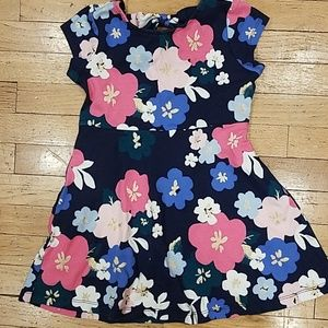 Girls cap sleeve flower dress
